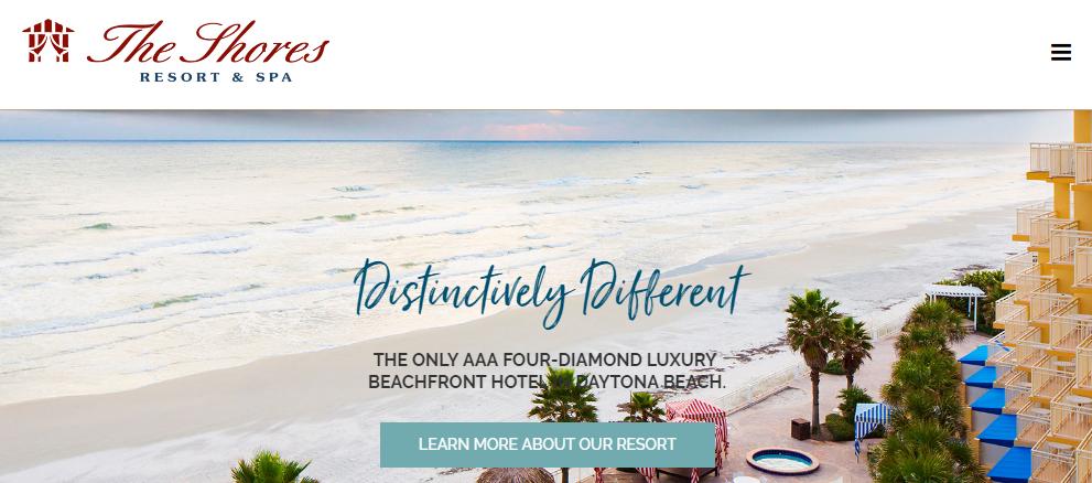 Resort website design marketing, The Shores Resort and Spa