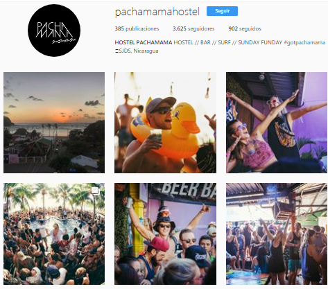 Pachamama Hostel Nicaragua Instagram Page