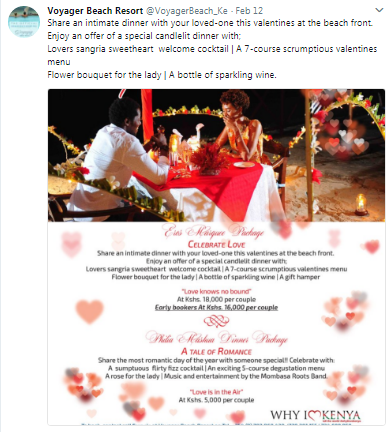 Voyager Beach Resort Twitter example